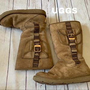 Authentic UGG size 8 beige boots